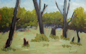 Réjean Lacroix artiste, Marais, Coteau-du-lac, Vaudreuil-Soulange, Québec (pochade)