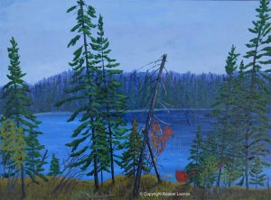 Réjean Lacroix artiste, Solitude, Canoë lake, Parc Algonquin, Ontario